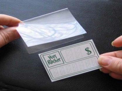 Футляр из прозрачного пластика для ценников