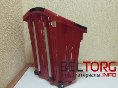 Пластиковая корзина-тележка на колесах