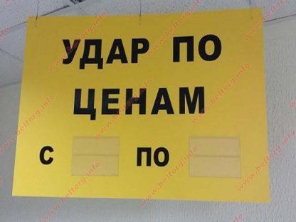 Табличка потолочная с карманами двухсторонняя