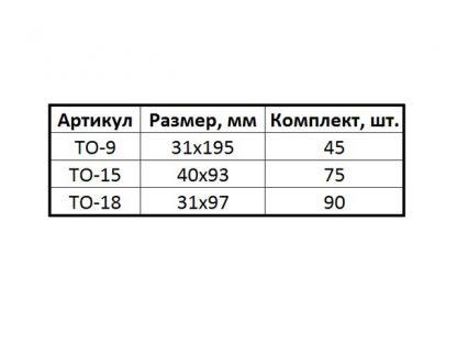 """Ценник ламинированный """"ТО - 9, 15, 18"""""""