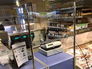 Защитный экран для продавца